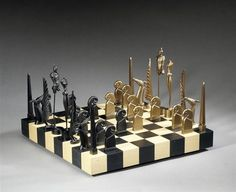 A Game of Chess by Paul Wunderlich. Surrealism. sculpture