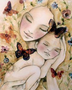 my new world art print with butterflies