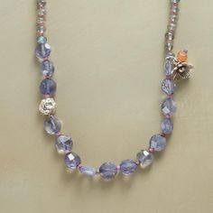 "POSEY Necklace. 17"". Iolite, Labradorite, Peach moonstone and sterling silver. designed by Nicole Ardis jewelry."