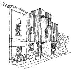 Highbury Terrace Mews by Studio 54 Architecture - Architectural hand drawn rendering sketch