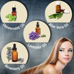 Essential Oils for Hair Growth. Rosemary and Lavender sound heavenly.