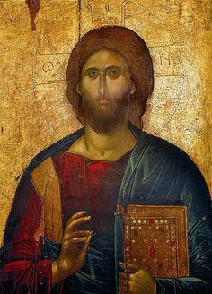 Jesus Christ the Saviour, icon fom the iconostasis, 14th century - Monastery of Saint John the Forerunner – Serres, Greece