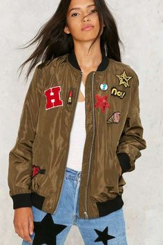 Factory What a Patch Bomber Jacket