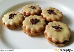 Baking Recipes, Cookie Recipes, Snack Recipes, One Smart Cookie, Czech Recipes, Holiday Cookies, Desert Recipes, Macaroons, Christmas Baking