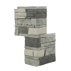 GenStone 12 in. x 24 in. Stacked Stone Northern Slate Faux Stone Siding Outside Corner Panel-G2SSNSC - The Home Depot Stone Siding Panels, Stone Veneer Siding, Faux Stone Veneer, Faux Stone Siding, Stone Veneer Panels, Faux Stone Walls, Home Depot, Stacked Stone Panels, Dry Stack Stone