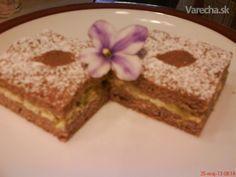 Rebarborový koláč s tvarohom (fotorecept)