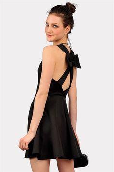 Cross Back Dress with Bow | Necessary Clothing