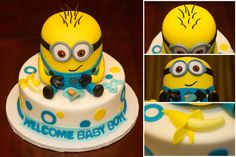 Baby Shower Minion cake