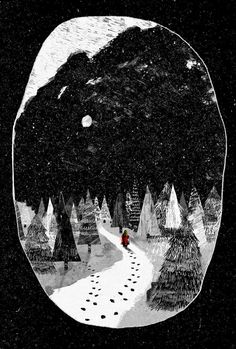 The Bloody Chamber and other stories by Angela Carter - Peter Strain Illustration