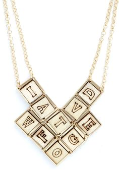 Editor's Letters Necklace, #ModCloth