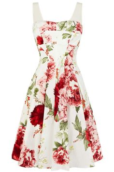 A-line sundress with floral patterns_Dresses(d)_DESIGNER_Voguec Shop