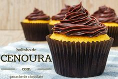 Brazilian Carrot Cupcakes with Ganache Frosting - Travel Cook Tell Churros, Brazilian Carrot Cake Recipe, Ganache Frosting, Carrot Cake Cupcakes, Different Cakes, Salty Cake, Brownie Cake, Cake Tins, Savoury Cake