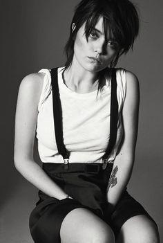 Sky Ferreira in Black & White Editorial for i-D