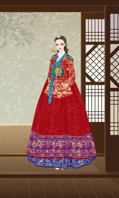 Korean Hanbok, Korean Dress, Korean Traditional, Traditional Dresses, Court Dresses, Korean Drama Movies, Ga In, Korean Art, Kim Min