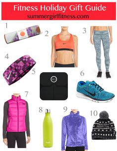 Holiday 2015 fitness gift guide! #SummerGirlFitness