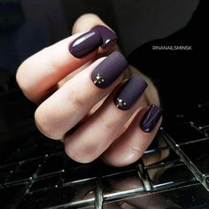 18 Beautiful Winter Nail Colors ★ Beautiful Winter Matte Nail Designs Picture 2 ★ See more: http://glaminati.com/winter-nail-colors/ #winternailcolors #winternails