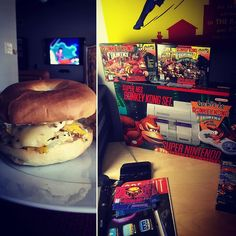 Gorgeous! shared by strongandnerdy #retrogaming #microhobbit (o) http://ift.tt/2c0dLsz - 1190 cal - 118c 52f 59p  4 eggs pepper jack cheese 2 bagels and cream cheese while watching #superman the animated series.  Recently acquired the donkey kong country #supernintendo set box. This is the first console I ever owned as a kid. Still my favorite game of all time.  #fitfam #igfitfam #iifym #weightlossjourney #getfit #motivation #progress #nerdswholift  #strongandnerdy #gamerswholift #strong…