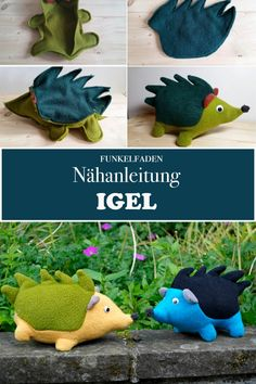 Nähanleitung Igel Kuscheltier inklusive Schnittmuster Kids Crafts, Diy And Crafts, Felt Ornaments Patterns, Sew Mama Sew, Mug Rugs, Baby Sewing, Softies, Cool Diy, Diy Art