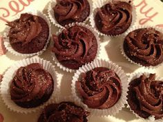NO sugar chocolate frosting.....  no flour/sugar chocolate cupcakes.