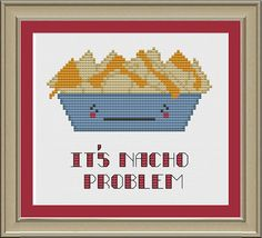 Great, now Im craving nachos. When does baseball season start up again? :)    This listing is for a pattern only --- not a completed project.