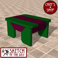 Sketch of the Day: Modern Accent Stool