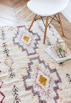 Tapis de laine marocain, «Le Sloan,» Beni Ourain tapis, tapis berbère, tapis douillet, tapis de laine, petit tapis, décor bohème, Boho tapis, tapis de chambre d'enfant, tapis pour enfant
