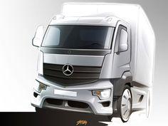 Mercedes-Benz Antos - Design Sketch - Car Body Design
