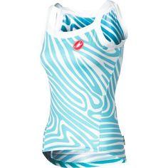 Sexy Jersey - Castelli Otticio Cycling Jersey- Sleeveless – Women's Aqua/White, XS $69.95