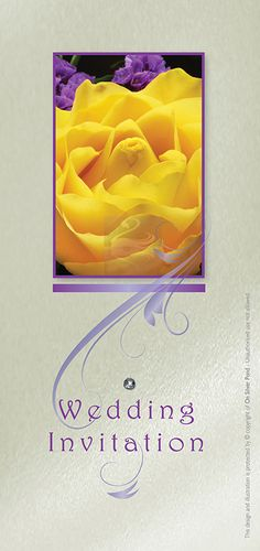 Purple and Yellow Wedding Invitations and Stationery from On Silver Pond