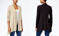 JM Collection Button-Back Cardigan, Only at Macy's - Sweaters - Women - Macy's