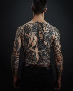 """Florian Santus on Instagram: """"Massive progress on my friend @5fugazi bodysuit. Healed backpiece. Thank you very much for the unshakeable trust. All photos by…"""""""