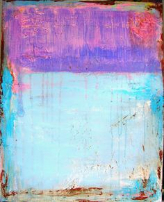 Abstract Art Painting light blue lavender pink by cherylwasilowart, $199.00