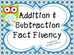 My Kind of Teaching: Interactive Data Board for Fact Fluency