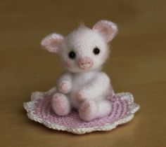 Adorable Little Crocheted Pig