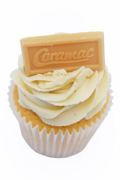 A timeless classic chocolate bar made into a cupcake. A buttery and toasty sponge topped with swirly Caramac buttercream and a piece of Caramac. Caramac Cupcakes, Cupcake Flavors, Cake Makers, Icing, Chocolate, Sweet, Desserts, Food, Candy