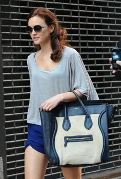 Leighton Meester Celine Luggage Tote 1 - Fab Fashion Fix. Celine BagCeline  LuggageCeline Trapeze BagGossip Girl ... be55bc7d6a