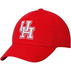 on sale df02b 8016e Houston Cougars Top of the World Booster 1Fit Flex Hat - Red