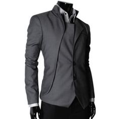 f624bcfb6 THELEES Mens casual fantastic design slim Fit Jacket Blazer Coat Collection