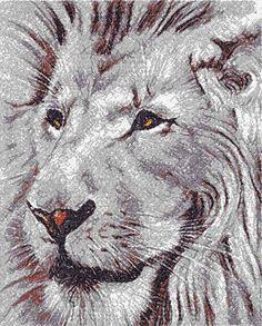 Lion photo stitch free embroidery design 4 - Photo stitch embroidery designs - Machine embroidery community