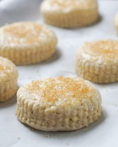 Sweet Biscuits - make them for a teatime treat or as the start of a simple but special shortcake dessert that's perfect for summer barbecues. Bbq Desserts, Just Desserts, Dessert Recipes, Brunch Recipes, Dessert Tarts Mini, Newfoundland Recipes, Tea Biscuits, Homemade Biscuits, Cream Puff Recipe