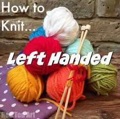 how to knit left han