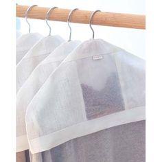 Linen hanger cover with French Lavender-filled pocket