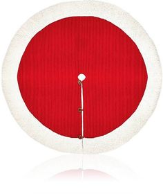 Waiting for Santa with this Cable-Knit Tree Skirt Red with white trim #Affiliate