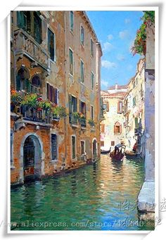 Aliexpress.com : Buy Venice oil painting italian landscape oil painting on canvas hight Quality oil painting Venice CANAL Gondola 1 from Reliable painting toenails suppliers on Eazilife Oil Painting  | Alibaba Group