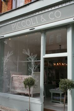Piccoli & Co store, London. baby store window in London