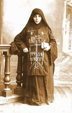 Orthodox nun in Lebanon in the 1930's. via: lovestitches