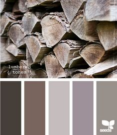 Lumbered tones - gorgeous! How someone can look at a pile of wood and only end up with one brown (and an almost-brown at that) is amazing
