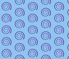 Dean's Purple Swirl on Blue fabric by midcoast_miscellany on Spoonflower - custom fabric