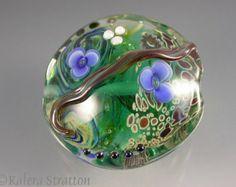 Large Organic Garden Focal Lampwork Bead - SHAMAN'S WATER GARDEN - Beadwife sra