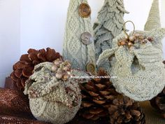 One More Time: Sweater Ornaments